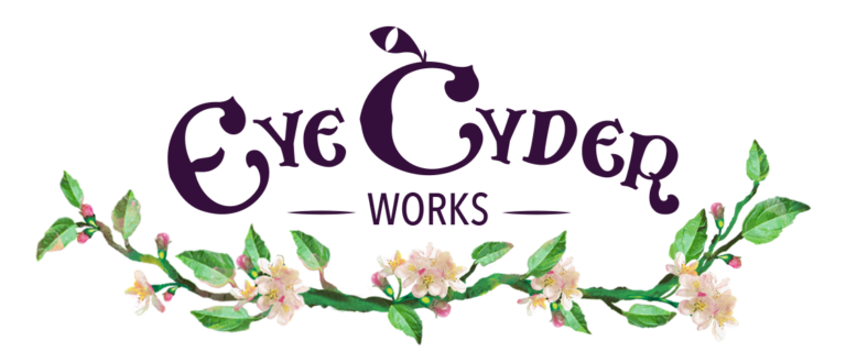 eye cyder works logo with wreath