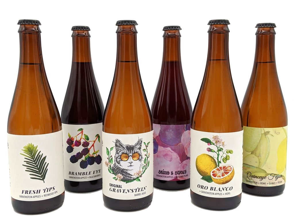 Eye Cyder seasonal ciders six-bottle lineup
